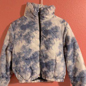 Wild Fable Blue Tie Dye Puffer Jacket